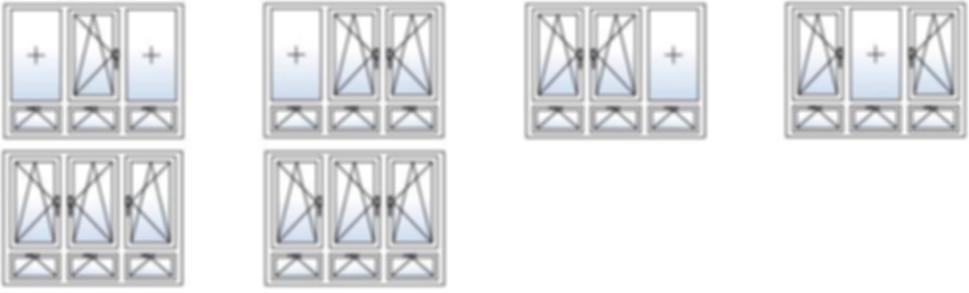 Типы Открывания Окон с Тремя створками