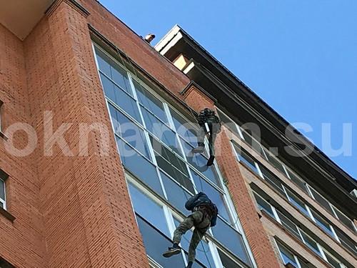 Герметизация алюминиевого фасадного остекления жилого комплекса