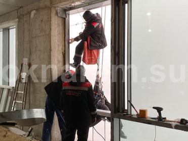 Замена стеклопакетов в остеклении фасада