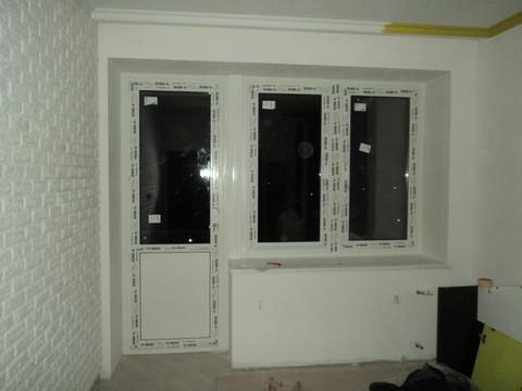 Установка окна и балконной двери