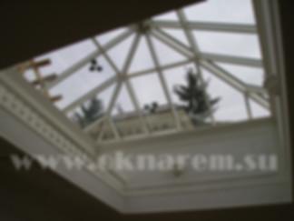 ОкнаРем. Стеклопакеты с подогревом наружного стекла в конструкции зенитного фонаря
