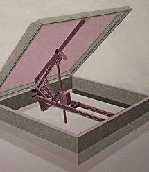 Электро-привод открывания люкового окна