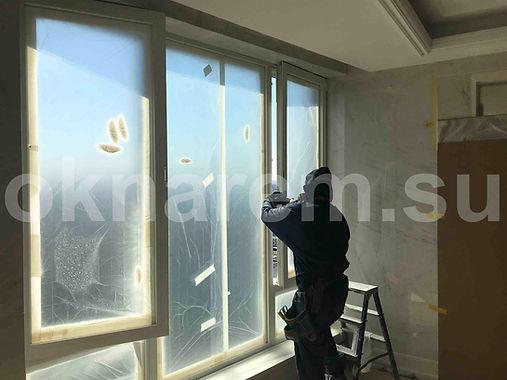 Покраска алюминиевых окон в проеме.jpg