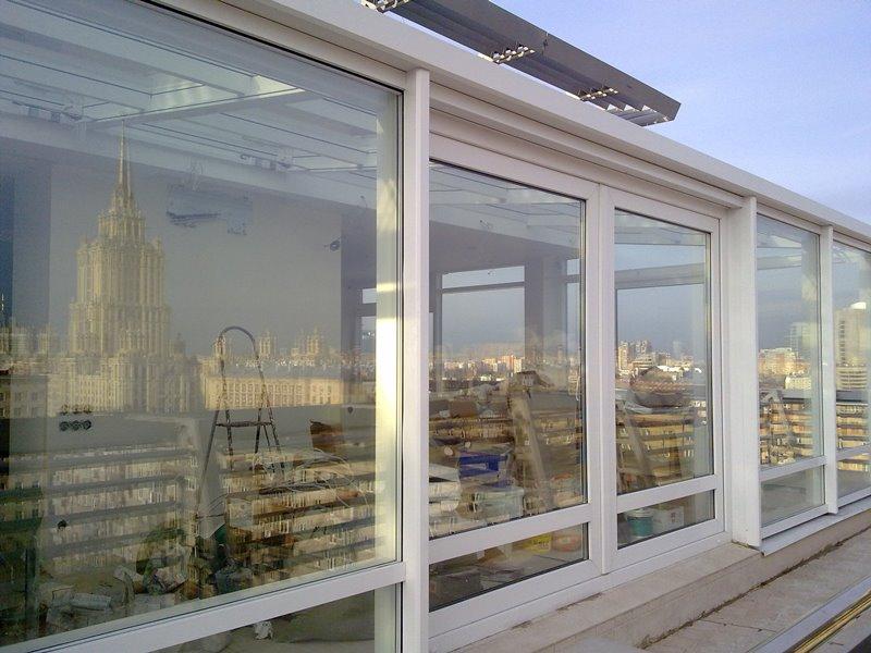 Установка Зимнего Сада с обогревом крыши
