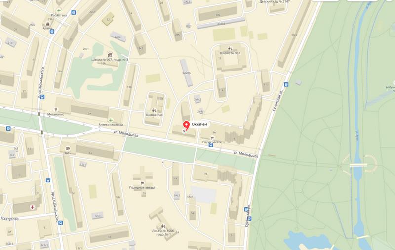 Местоположение на карте Окна Рем