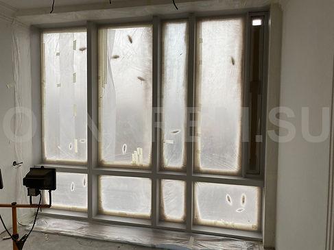 Покрашенные окна Мосфильмовская 8