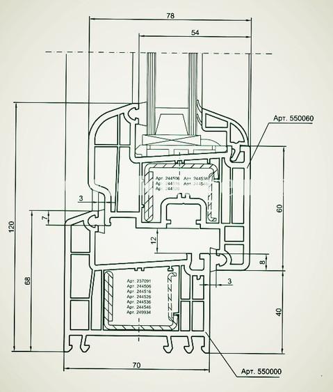 Профильная система REHAU в разрезе