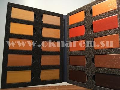 Окрашенные образцы для изготовления деревянных окон