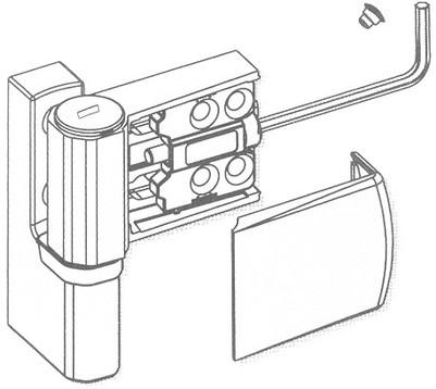 Регулировка пластиковых дверей (вправо - влево)