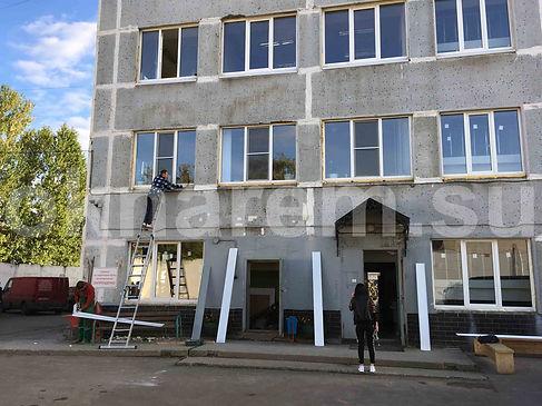 Замена окон четырехэтажного здания