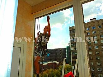 Установка, замена окон, стеклопакетов альпинистами