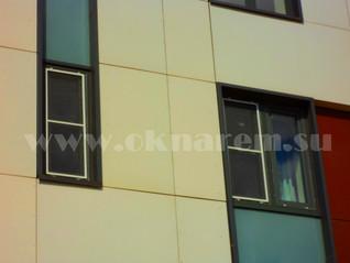 Замена окон в вентилируемом фасаде