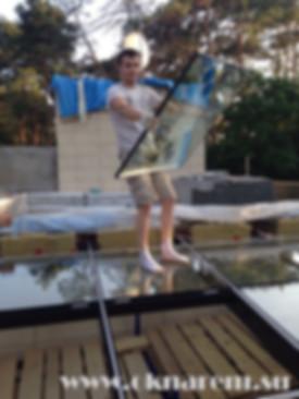 Установка светопрзрачных крыш