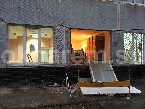 Замена окон в здании офиса