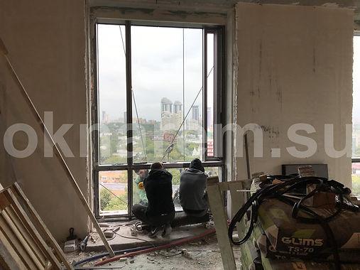 Замена стеклопакетов альпинистами в ЖК Дом на Мосфильмовской