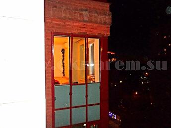 Окна не монтированы в алюминиевый фасад