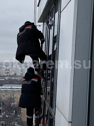 Замена стеклопакетов в модульном фасаде