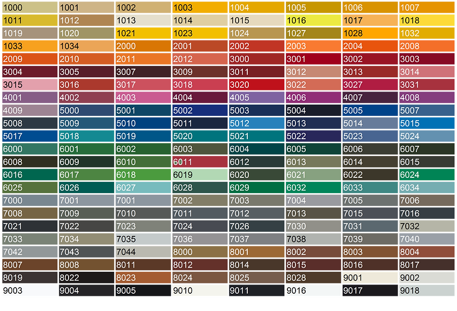 ОкнаРем Цветовая палитра RAL classic