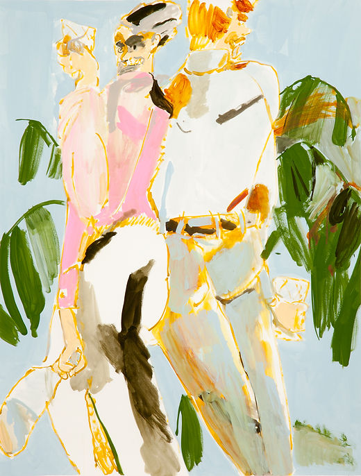 Lunch club, Michael Taylor 2015, Acrylic and flashe on paper, 98 x 75 cm
