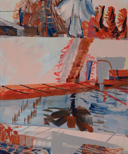 Perfect Pretend, Michael Taylor 2017, Acrylic on canvas, 60 x 50 cm