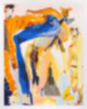 Domestic Theatrics, Michael Taylor, 2018, Mixed media on paper, 48 x 38 cm
