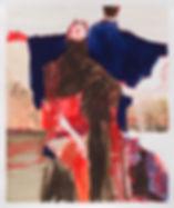Sleeping on the Job, Michael Taylor, 2018, Mixed media on paper, 67 x 56 cm