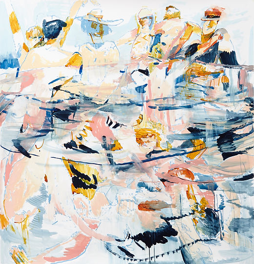 Lucky dip, Michael Taylor 2015, Acrylic, gouache and pencil on paper, 156,5 x 150 cm