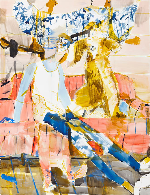 War games, Michael Taylor 2015, Acrylic and flashe on paper, 140 x 110 cm