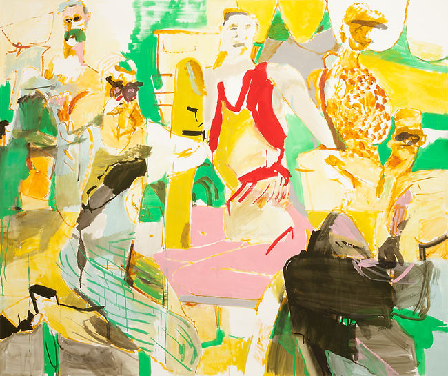 The yoga suite, Michael Taylor 2015, Acrylic and flashe on paper, 150 x 180 cm