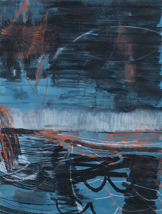 Boatman's dream, Michael Taylor 2016, Charcoal and flashe on paper, 150 x 120 cm