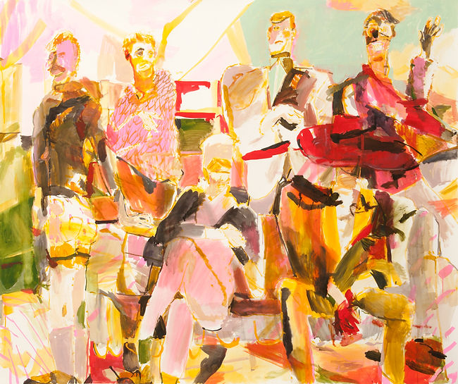 The milkshake mop, Michael Taylor 2015, Acrylic and flashe on paper, 140 x 110 cm
