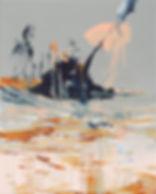 James Bond Party Pier, Michael Taylor, 2018, Acrylic on canvas, 50 x 40 cm