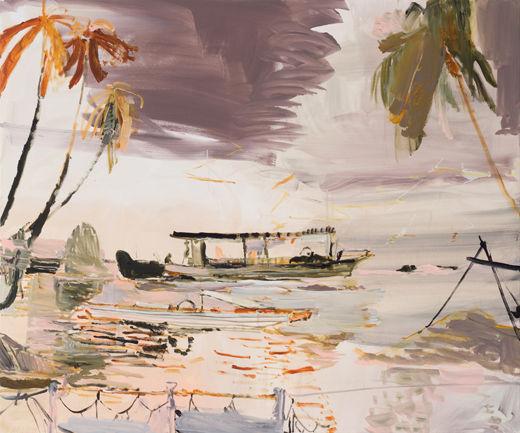 Stormy Affair, Michael Taylor, 2018, Acrylic on canvas, 100 x 120 cm