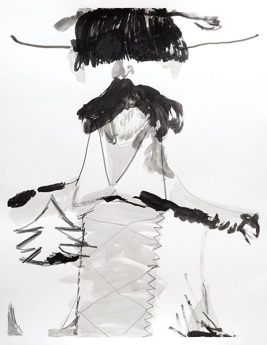 The Surgeon, Michael Taylor, 2018, Ink and pencil on paper, 72 x 56 cm