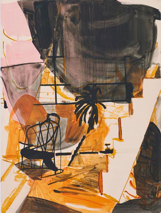 Small Pleasures, Michael Taylor 2016, Flashe on canvas, 80 x 60 cm