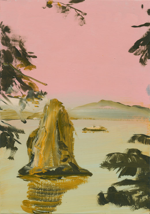 Treat, Michael Taylor 2017, Oil on card, 20 x 14 cm