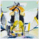 A rake's The legend, Michael Taylor 2014, Acrylic, gouache and pencil on paper, 75 x 75 cm The cowboy, Michael Taylor 2015, Acrylic, gouache and pencil on screen print, 70 x 50 cm