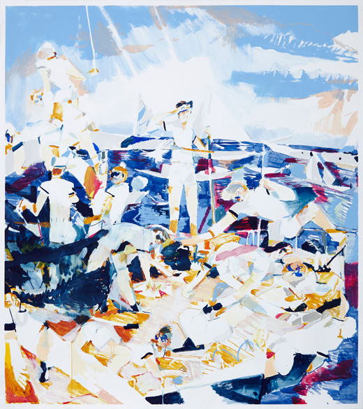 The cruising, Michael Taylor 2014, Acrylic, gouache and pencil on paper, 170 x 150 cm