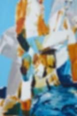 A rake's Mr. Mr. July (Thomas), Michael Taylor 2014, Acrylic and pencil on board, 60 x 40 cm (Thomas), Michael Taylor 2014, Acrylic and pencil on paper, 60 x 40 cm - New best friend, Michael Taylor 2015, Acrylic, gouache and pencil on screen print, 70 x 50 cm