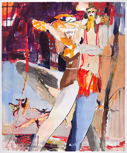 Cabana Terror, Michael Taylor, 2018, Mixed media on paper, 150 x 125 cm