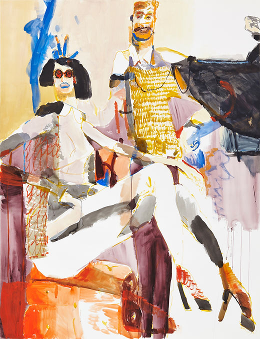 Vamp playdate, Michael Taylor 2015, Acrylic and flashe on paper, 140 x 110 cm