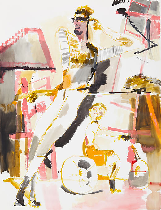 Daddy tango, Michael Taylor 2015, Acrylic and flashe on paper, 140 x 110 cm