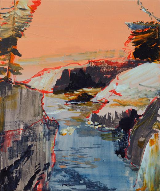 Deep Spring, Michael Taylor 2017, Acrylic on canvas, 60 x 50 cm