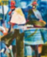 Only sometimes when a tree has fallen, Michael Taylor 2016, Gouache on paper, 150 x 125 cm