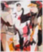 Bat Lessons, Michael Taylor, 2018, Mixed media on paper, 150 x 125 cm