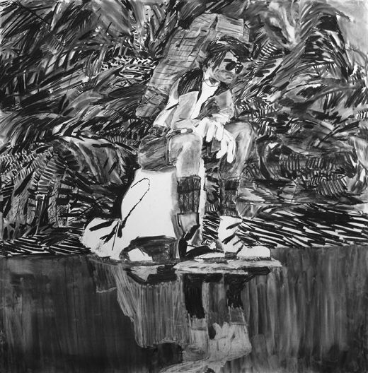 I'll say. Every man is an island, Michael Taylor 2012, Charcoal on paper, 150 x 150 cm more now, from your loving husband, Wilfred, Michael Taylor 2016, Gouache on paper, 150 x 125 cm