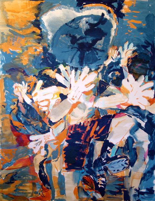Good old mumbo jumbo, Michael Taylor 2012, Gouache and pencil on paper, 160 x 120 cm