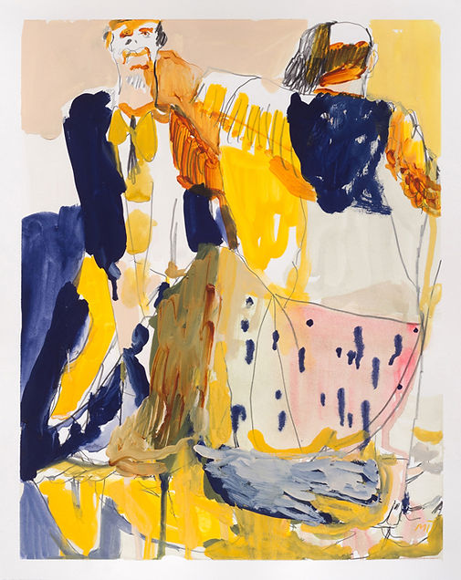 The Hand that Holds the Banana, Michael Taylor, 2018, Mixed media on paper, 48 x 38 cm