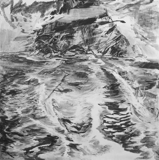 You again, Michael Taylor 2012, Charcoal on paper, 150 x 150 cm