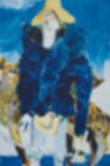A rake's Mr. November (Simon), Michael Taylor 2014, Acrylic and pencil on board, 60 x 40 cm - New best friend, Michael Taylor 2015, Acrylic, gouache and pencil on screen print, 70 x 50 cm